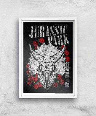 Poster Fine Art Jurassic Park Isla Nublar 93 - A4 - White Frame chez Casa Décoration