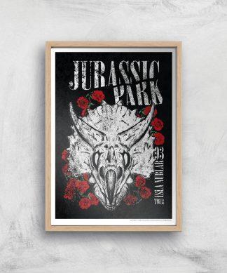 Poster Fine Art Jurassic Park Isla Nublar 93 - A3 - Wooden Frame chez Casa Décoration