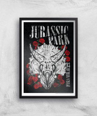Poster Fine Art Jurassic Park Isla Nublar 93 - A2 - Black Frame chez Casa Décoration