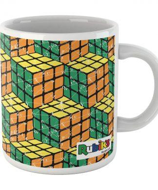 Rubik Scientific Equations Yellow Green Orange Cube Mug Mug chez Casa Décoration