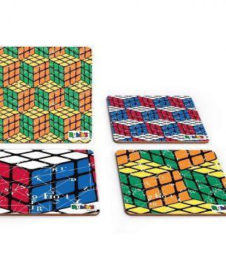Rubik Scientific Equations Pattern Coaster Set chez Casa Décoration