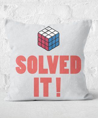 Solved It! Messed Up! Square Cushion - 50x50cm - Soft Touch chez Casa Décoration