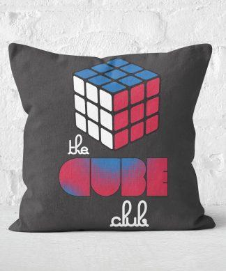 The Cube Club Repeat Love Cube Cushion Square Cushion - 50x50cm - Soft Touch chez Casa Décoration