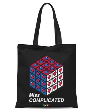 Miss Complicated Love Cube Tote Bag - Black chez Casa Décoration