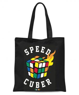 Speed Cuber Tote Bag - Black chez Casa Décoration