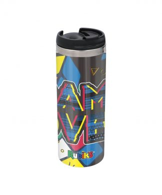 Game Over Shattered Rubik's Cube Stainless Steel Thermo Travel Mug - Metallic Finish chez Casa Décoration