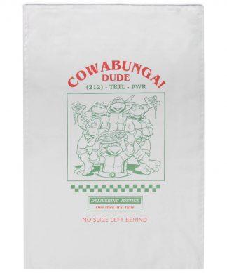 Serviettes en cotton Tortues Ninja Cowabunga - Blanc chez Casa Décoration