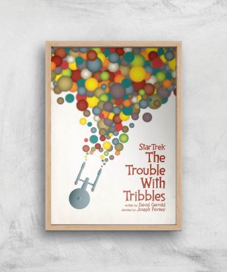 The Trouble With Tribbles Giclee - A4 - Wooden Frame chez Casa Décoration