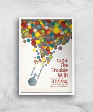 The Trouble With Tribbles Giclee - A4 - White Frame chez Casa Décoration