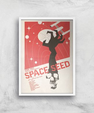 Space Seed Giclee - A4 - White Frame chez Casa Décoration