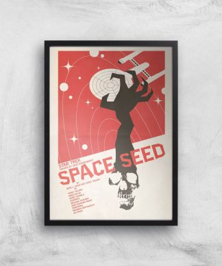 Space Seed Giclee - A4 - Black Frame chez Casa Décoration
