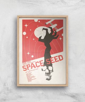Space Seed Giclee - A3 - Wooden Frame chez Casa Décoration