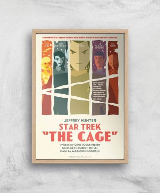 The Cage Giclee - A4 - Wooden Frame chez Casa Décoration