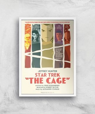 The Cage Giclee - A4 - White Frame chez Casa Décoration