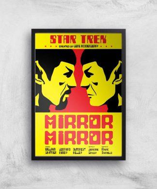 Mirror Mirror Giclee - A4 - Black Frame chez Casa Décoration
