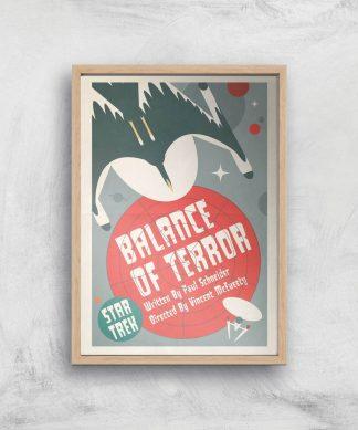 Balance Of Terror Giclee - A4 - Wooden Frame chez Casa Décoration