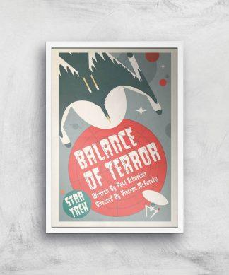 Balance Of Terror Giclee - A4 - White Frame chez Casa Décoration