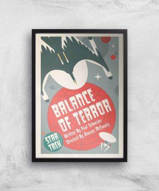 Balance Of Terror Giclee - A4 - Black Frame chez Casa Décoration