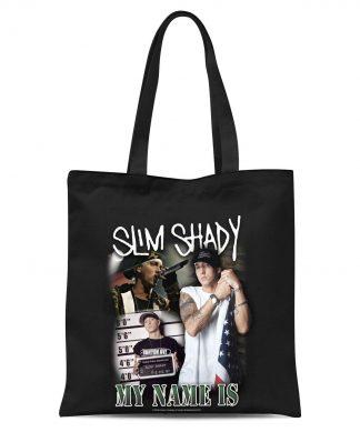 Tote Bag My Name Is Slim Shady - Noir chez Casa Décoration