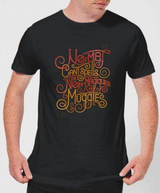 Fantastic Beasts No-Maj Men's T-Shirt - Black - XS - Noir chez Casa Décoration