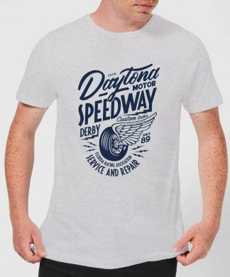 Daytona Speedway Men's T-Shirt - Grey - XS - Gris chez Casa Décoration