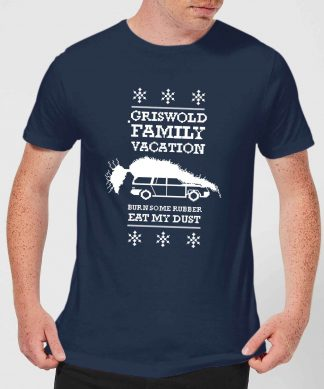 National Lampoon Griswold Vacation Ugly Knit Men's Christmas T-Shirt - Navy - XS - Navy chez Casa Décoration