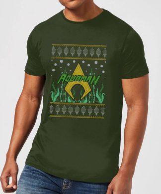 DC Aquaman Knit Men's Christmas T-Shirt - Forest Green - XS - Forest Green chez Casa Décoration
