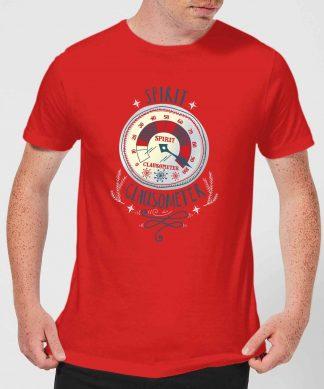 Elf Clausometer Men's Christmas T-Shirt - Red - XS - Rouge chez Casa Décoration
