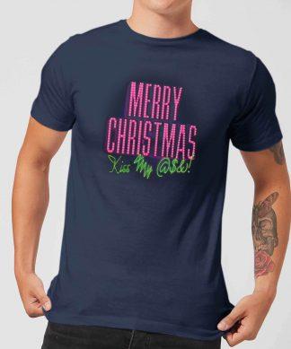 National Lampoon Merry Christmas (Kiss My @$$) Men's Christmas T-Shirt - Navy - XS - Navy chez Casa Décoration