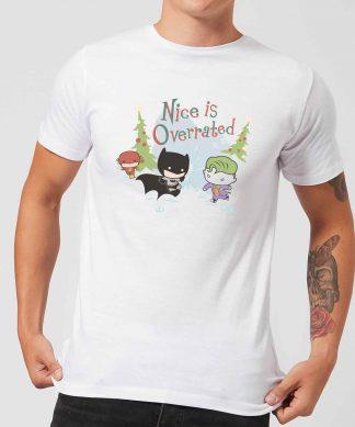 DC Nice Is Overrated Men's Christmas T-Shirt - White - XS - Blanc chez Casa Décoration
