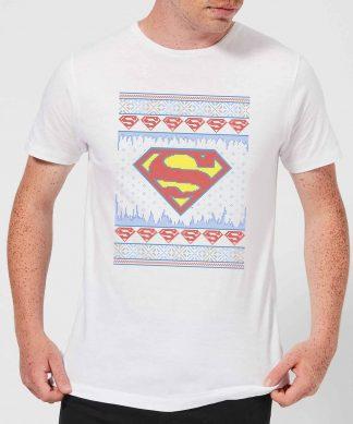 DC Supergirl Knit Men's Christmas T-Shirt - White - XS - Blanc chez Casa Décoration
