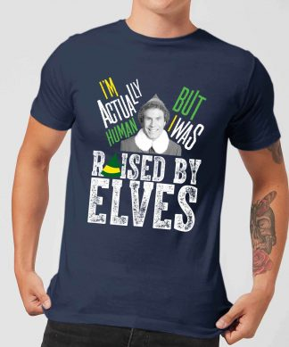 Elf Raised By Elves Men's Christmas T-Shirt - Navy - XS - Navy chez Casa Décoration