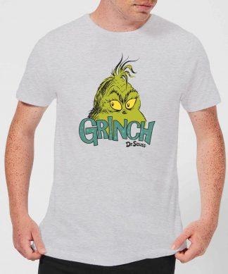 T-Shirt de Noël Homme Le Grinch - Visage - Gris - XS - Gris chez Casa Décoration