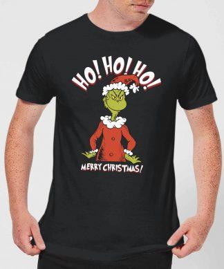 T-Shirt de Noël Homme Le Grinch - Ho Ho Ho Sourire - Noir - XS - Noir chez Casa Décoration