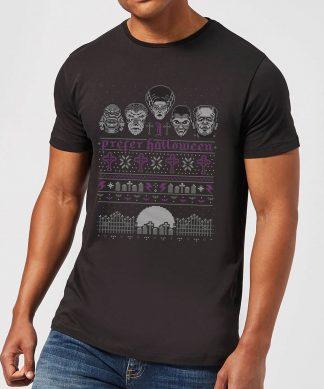 T-Shirt de Noël Homme Universal Monsters I Prefer Halloween - Noir - XS - Noir chez Casa Décoration