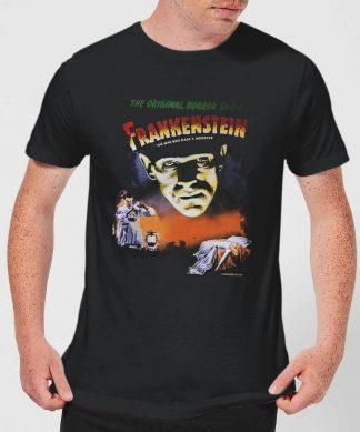 T-Shirt Homme Frankenstein Affiche Rétro - Universal Monsters - Noir - XS chez Casa Décoration