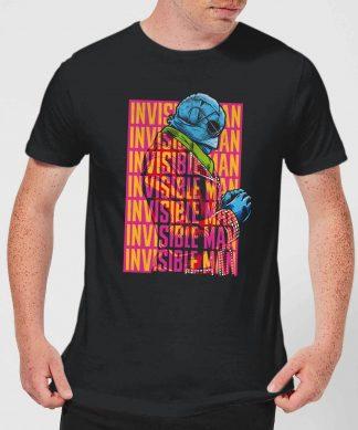 T-Shirt Homme L'Homme Invisible Rétro - Universal Monsters - Noir - XS - Noir chez Casa Décoration
