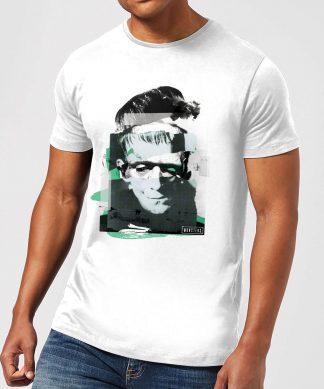 T-Shirt Homme Collage Frankenstein - Universal Monsters - Blanc - XS - Blanc chez Casa Décoration