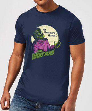 T-Shirt Homme The Wolfman Rétro - Universal Monsters - Bleu Marine - XS - Navy chez Casa Décoration