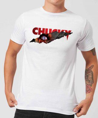 T-Shirt Homme Tear Chucky - Blanc - XS - Blanc chez Casa Décoration