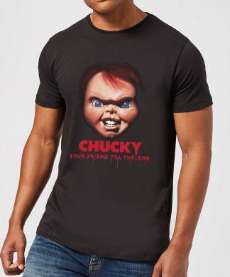 T-Shirt Homme Friends Till The End Chucky - Noir - XS - Noir chez Casa Décoration