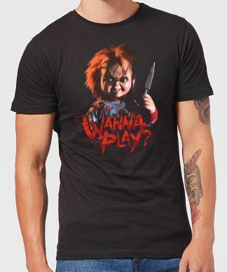 T-Shirt Homme Wanna Play? Chucky - Noir - XS - Noir chez Casa Décoration