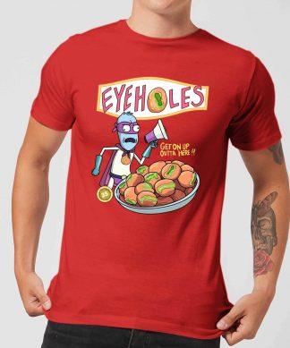 T-Shirt Homme Eyeholes Rick et Morty - Rouge - XS chez Casa Décoration