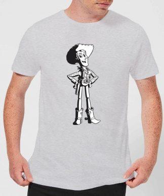 T-Shirt Homme Sheriff Woody Toy Story - Gris - XS - Gris chez Casa Décoration