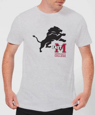 T-Shirt Homme Lion et Logo - East Mississippi Community College - Gris - XS - Gris chez Casa Décoration