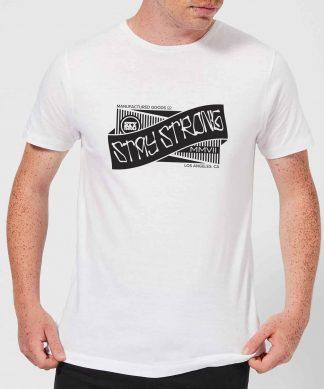 Stay Strong Ribbon Men's T-Shirt - White - XS - Blanc chez Casa Décoration