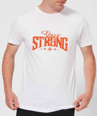 Stay Strong Logo Men's T-Shirt - White - XS - Blanc chez Casa Décoration