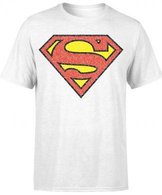 Originals Official Superman Crackle Logo Men's T-Shirt - White - XS chez Casa Décoration