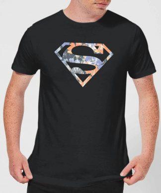 T-Shirt Homme Logo Superman Fleuri DC Originals - Noir - XS - Noir chez Casa Décoration