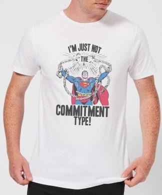 T-Shirt Homme Superman Brise les Chaînes DC Originals - Blanc - XS - Blanc chez Casa Décoration